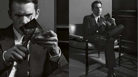 Dapper Boomer Menswear Ads - The Prada Spring Summer 2015 Ad Features Pseudo-Boomer Ethan Hawke