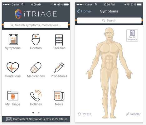 One-Stop Diagnostic Apps - The iTriage App is an All-in-One Healthcare Helper for iOS and Android