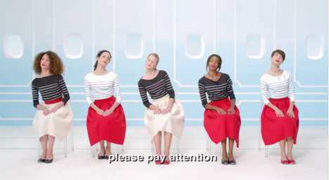 Glamorous In-Flight Safety Videos - Air France Creates a Chic Alternative to Mundane Safety Demos