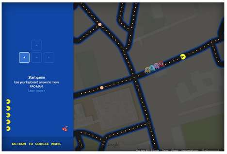 Gamified Map Hacks - The Google Maps Pac-Man Cheat Transform the App into the Classic Game