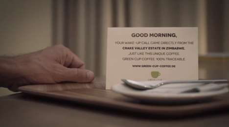 Caffeinated Wake-Up Calls - Green Cup's Coffee Promotion Brings Highlights its Authentic Origins
