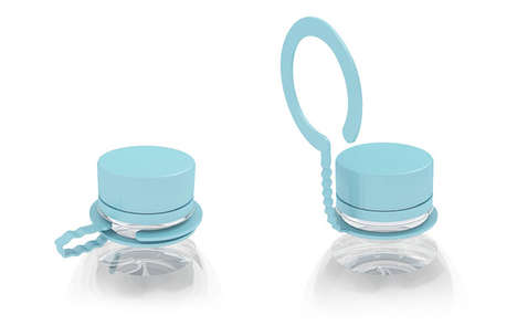 Handy Bottle Hooks - A Tweak to the Plastic Cap Would Enable Consumers to Easily Tote Canteens