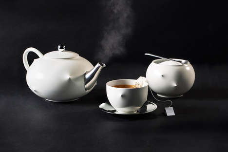 Body Responsive Tea Sets - This Interactive Tea Set and Art Piece Reflects Biometric Information