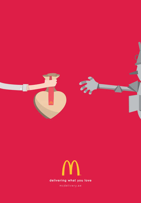Fantastical Fast Food Ads - The McDonalds Delivery Campaign Focuses on What People Love