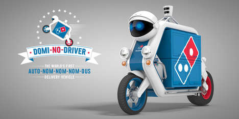 Driverless Pizza Delivery - Domino's Presents an Autonomous Bike That's Too Delicious to Be True
