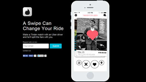Romantic Ride-Share Services - Tinder and Uber Partner for the Best April Fool's Day Prank