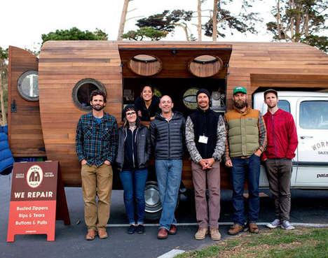 Clothing Repair Pop-Ups - The Patagonia Worn Wear Truck is Travelling Across the US Fixing Gear