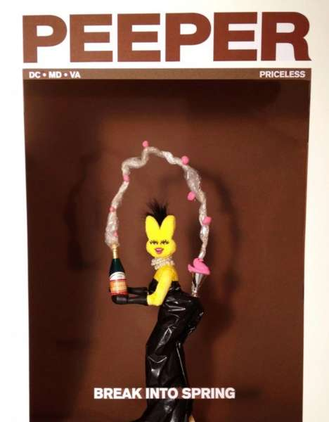 Easter Cover Recreations - This Clever Peeps Diorama Spoofs the Infamous Break the Internet Cover