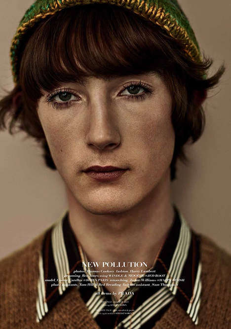 Androgynous Model Photography - Commons and Sense Man's Latest Issue Features Cosme Carellas