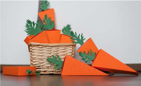 Crafty Rabbit-Food Cartons - DIY Carrot Easter Boxes are Lovely Veggie Vessels for Chocolate Eggs