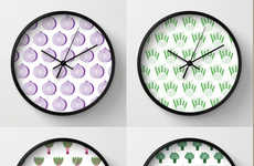 Vegan Wall Clocks - Etsy's Unique Timekeepers Boast a Veggie-Themed Print