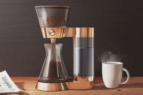 Smart Artisan Coffeemakers - The Poppy Pour-Over Coffee Machine Automatically Orders Beans When Low