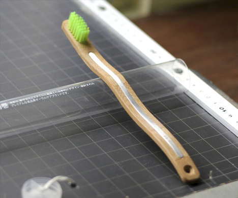 Reinforced Bamboo Toothbrushes - A Yumaki Teeth Cleaner is Manufactured with Metal and Woody Grass