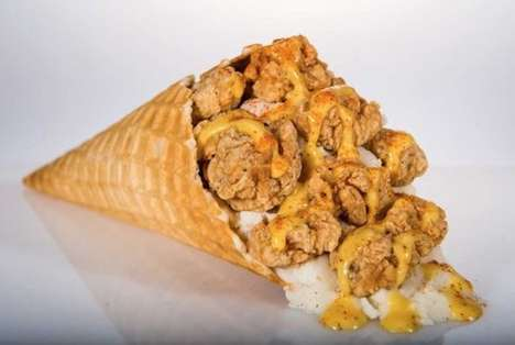 Ballpark Chicken Cones - The Chicken and Waffle Cone Will Be Available at Houston Astros Games