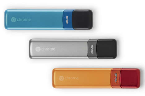 Complete USB-Sized Computers - The Google and ASUS Chromebit Turns Monitors into Working Computers