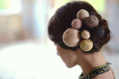 Bulbous Hair Accessories - Etsy's Bonnies Cinematheque Shop Creates Wool Crafts for Fashion Fans