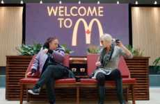 Surprise Restaurant Seating - McDonald's Fast Food Advertising Stunt Brings People Close with Fries