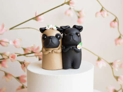 Pug Wedding Cakes - Canine-Loving Couples Will Enjoy These Creative Toppers