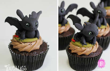 Adorable Animation Cupcakes - Baker Fernanda Abarca Creates Pastries Inspired by DreamWorks Movies