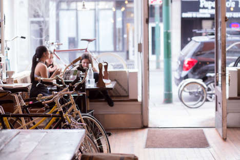 Bike Factory Cafes - Heritage Bicycles in Chicago is Part Bike Shop and Part Coffeeshop