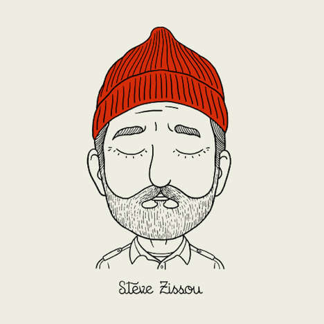 Quirky Character Art - Alejandro Giraldo Creates a Series of Wes Anderson Illustrations