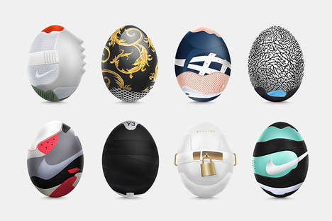 Sneaker Easter Eggs - Ruudios Designed a Collection of Unique Easter Eggs
