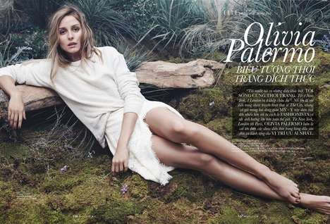 Elegantly Casual Editorials - Olivia Palermo Stars in the April 2015 Cover Story for ELLE Vietnam