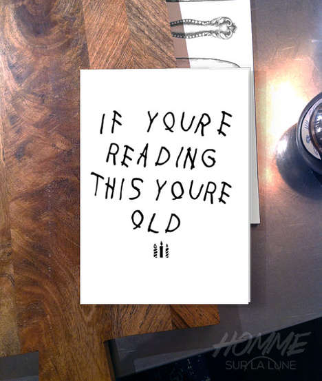 Rap Album Birthday Cards - This You're Old Card is Inspired by If You're Reading This, It's Too Late