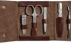 Artisanal Manicure Kits - Kaufmann Mercantile's Italian Leather Grooming Kit is Elegant