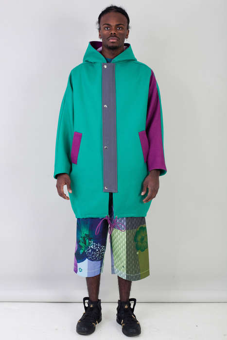 Nostalgic Cocoon Coats - This Wool Coat by Rachel James is Inspired by the 90s