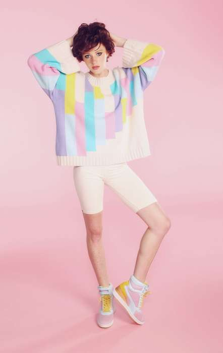 Vibrantly Retro Knits - This Wildfox Couture Sweater References the 80s and Its Bold Style
