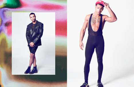 Flamboyant Sportswear Editorials - The Ones 2 Watch Mr Vain Exclusive Boasts Vibrant Menswear