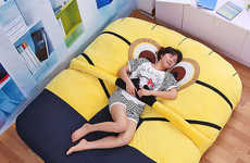 Embracing Cartoon Beds - This Minion Mattress Cover Lets Gru's Loyal Underlings Give You Hugs