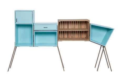 Eccentric Storage Solutions - This Abstract Cabinetry is Highly Graphic and Gravity-Defying