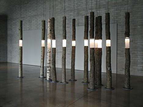 Mystic Woodland Installations - Ione Thorkelsson's 'Arboreal Fragments' Mixes Ecology and Design