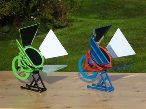 3D-Printed Solar Engines - Andreas Haeuser's DIY Solar Energy Panels Have a Low-Temperature Engine