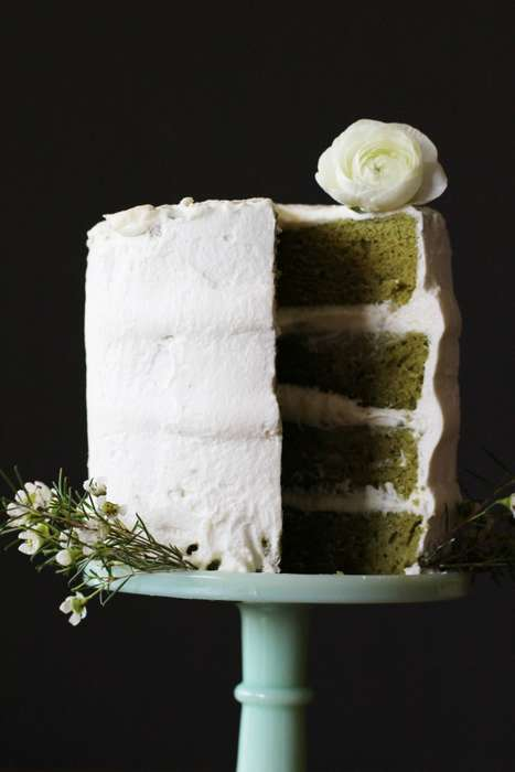 White Chocolate Tea Desserts - YonestlyYUM's Matcha Green Tea Cake Recipe is Very Light and Airy