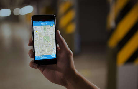 Urban Night Light Apps - The Rudder App is Designed to Navigate a Well-Lit Path Home