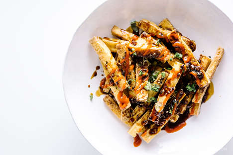 Seasoned Tofu Fries - This Healthy Meal Option Features Sesame and Honey Garlic Sauces
