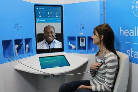 Telemedicine Kiosks - Rite Aid's HealthSpot Stations Provide Instant Medical Consultations