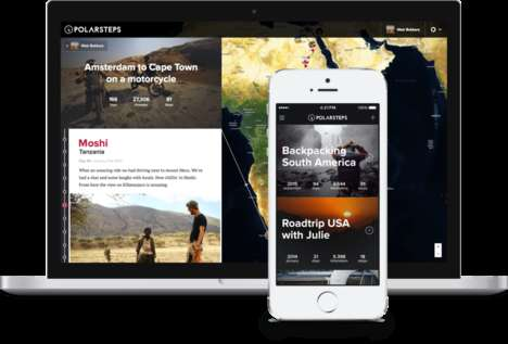 Mobile Travel Journal Apps - The Start-Up Polarsteps is Revolutionizing the Way We Track our Travels
