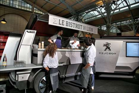 Fold-Out Food Trucks - Le Bistrot du Lion is an Ingenious Foodtruck Concept By Peugeot Design