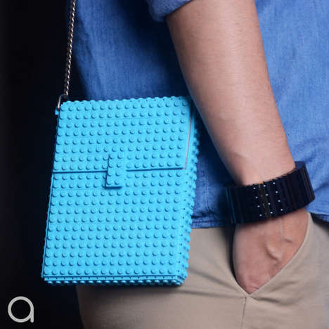 Authentic LEGO Handbags - These Purses Stylishly Feature Actual Pieces of the Iconic Toy