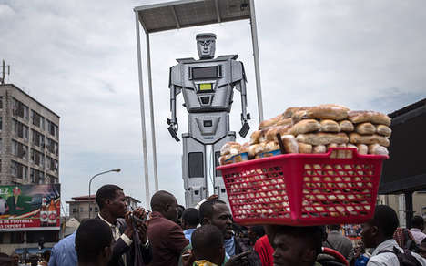 Robotic Traffic Cops - The Busy Streets of Congo Have Employed Towering Robots to Instill Control