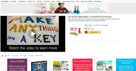 Skill-Building Toy Shops - Amazon Launched a Store for Featuring Educational and Fun STEM Toys