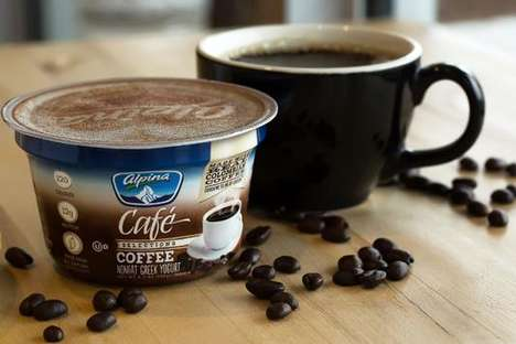 Coffee-Infused Yogurt - Alpina's Coffee Yogurt is Made with Authentic Columbian Coffee