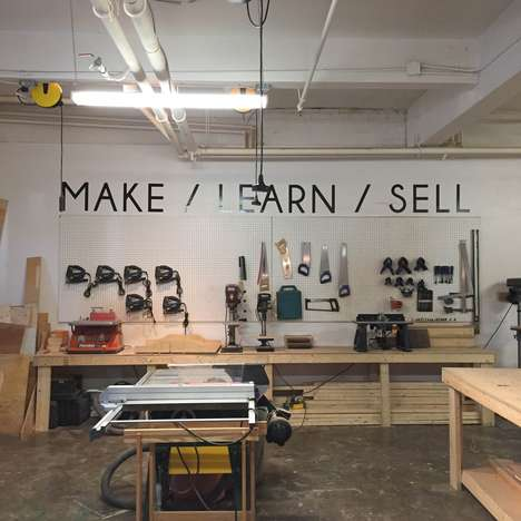 Creative Makerspace Facilities - The Shop is a Creative Studio Combining Crafts, Ceramics & Woodwork