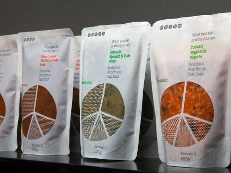 Pie Chart Packaging - Bags of This Nutritious Soup Break Down Their Food Group Contents into Slices