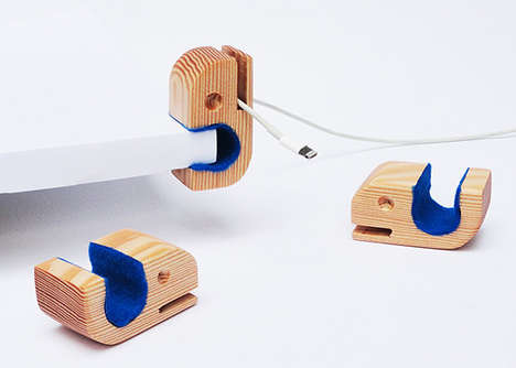 Oceanic Audio Accessories - These Cord Holders Keep One Organized and Reference Nature's Beauty