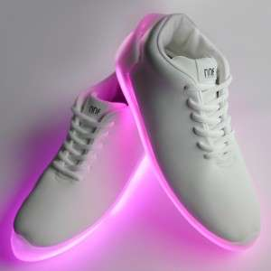 Illuminated Dance Sneakers - These Light-Up Shoes Can Be Controlled by an App on Your Phone
